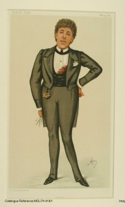 Caricatura de Oscar Wilde en Vanity Fair, 1884. Conservado en Museum of London,